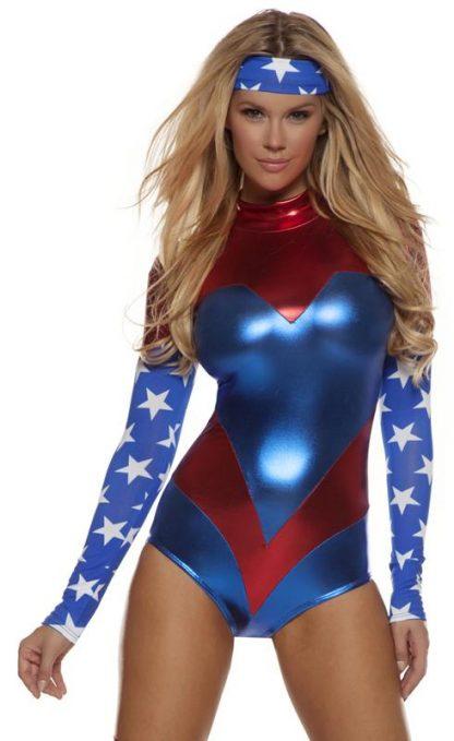 close-up of American Dream superhero costume 553714