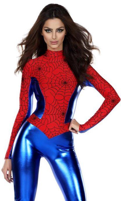 close up of Woman's spiderman superhero costume 555107