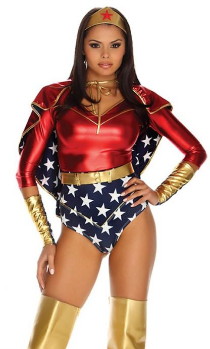 Reversible red metallic and star spangled superhero cape 993602