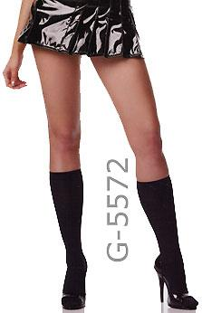 black knee high stockings, G-5572