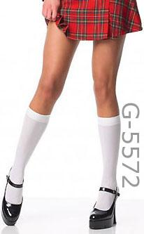 black or white knee high stockings G-5572