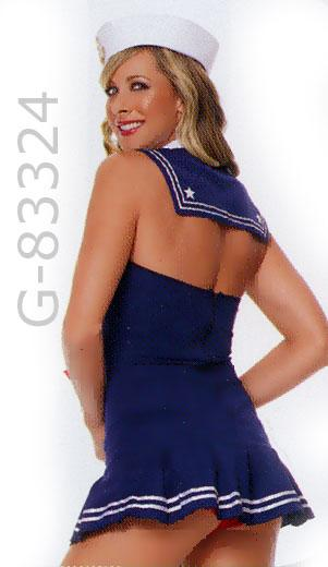 back view of American Sailor Cadet costume dress 83324