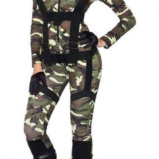 85166 Pretty Paratrooper Camouflage Costume