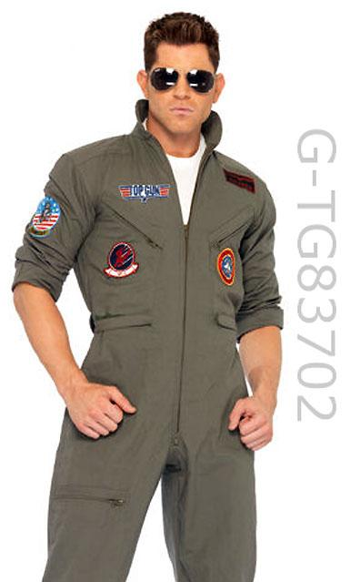 TG83702 Men's Top Gun Flightsuit and Sunglasses