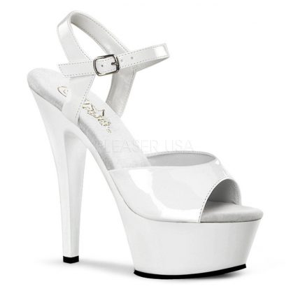 white Platform sandal high heel shoes with 6-inch spike heels Kiss-209