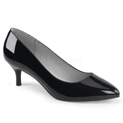 black classic pump shoes with 2.5-inch kitten heels Kitten-01