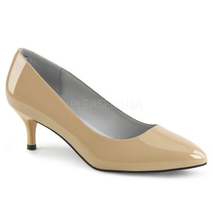cream classic pump shoes with 2.5-inch kitten heels Kitten-01