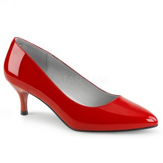 red classic pump shoes with 2.5-inch kitten heels Kitten-01