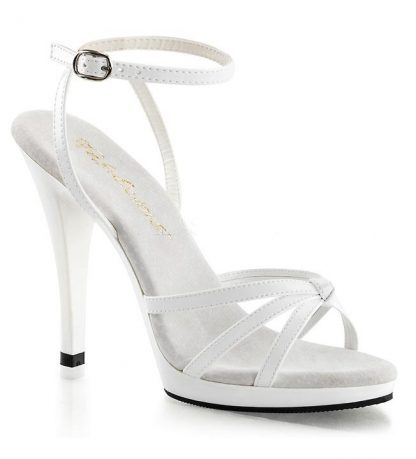 FLAIR-436 ankle strap shoe 4-inch spike heel