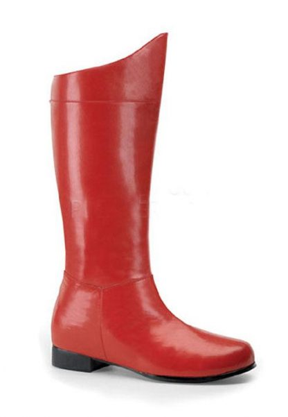 men's superhero red costume boots