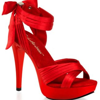 Cocktail-568 Criss-cross pleated strap sandal with 5 inch high heel