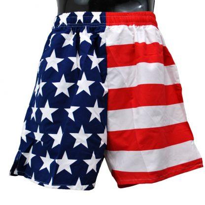 American flag men's swimsuit trunks