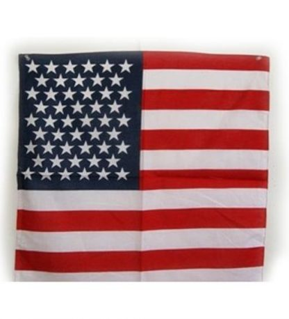 American flag cotton bandana, size 22 inches by 22 inches 357964