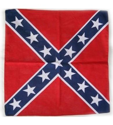 357965 Rebel flag cotton bandana, size 22 by 22 inches