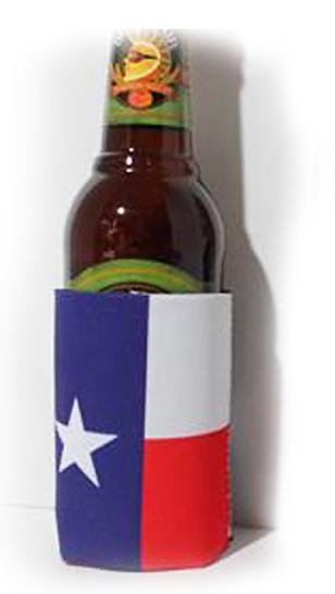 760219 Texas flag can koozie