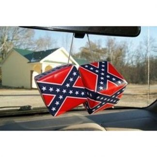 811153 Rebel Confederate flag 3-inch square hanging car dice