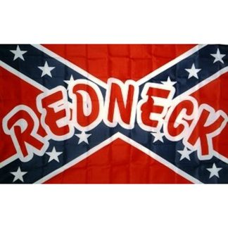833913 Rebel REDNECK polyester flag with canvas header