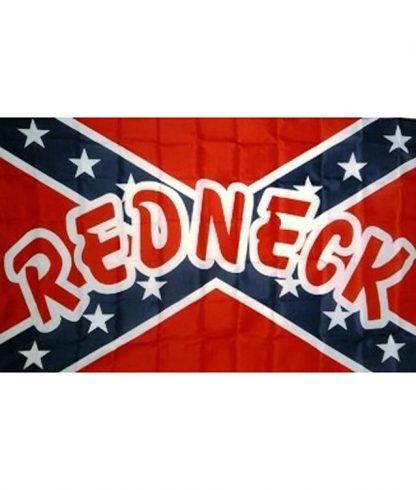 833913 Rebel REDNECK polyester flag with canvas header