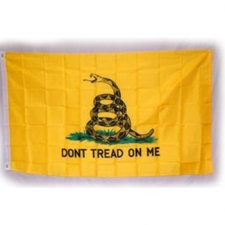 835511 Gadsden -DON'T TREAD ON ME- yellow polyester flag with lapel pin