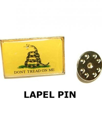 835511 Gadsden -DON'T TREAD ON ME- yellow lapel pin