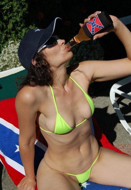 Rebel flag beach towel 65 and drinking beer