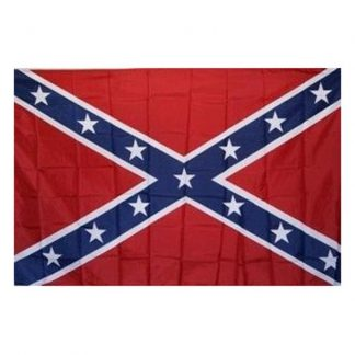 830073 Polyester Rebel Battle flag, 3x5 with canvas header