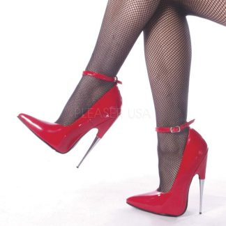 Fetish ankle strap pump shoes with steel 6-inch heels Scream-12