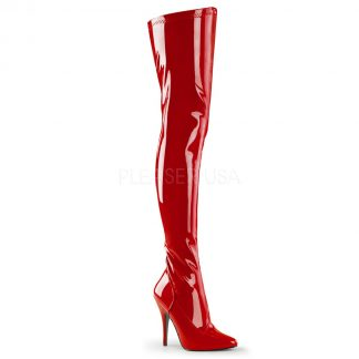 plain thigh boots with 5-inch spike heel Seduce -3000