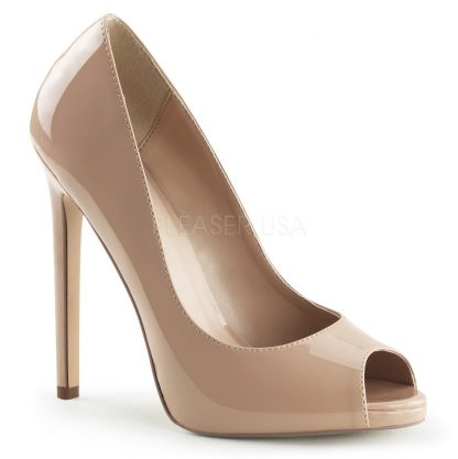 Platform peep toe pump nude shoes with 5-inch heels Sexy-42