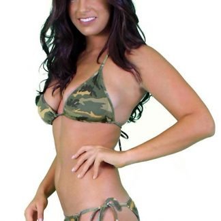 Camouflage tie side bikini with brazilian back 2-pc set ST235
