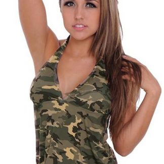 ST804T Camouflage tankini top