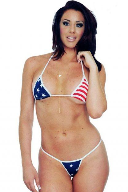USA American flag micro thong bikini 2-pc. set ST234