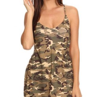 ST268 Camouflage beach dress