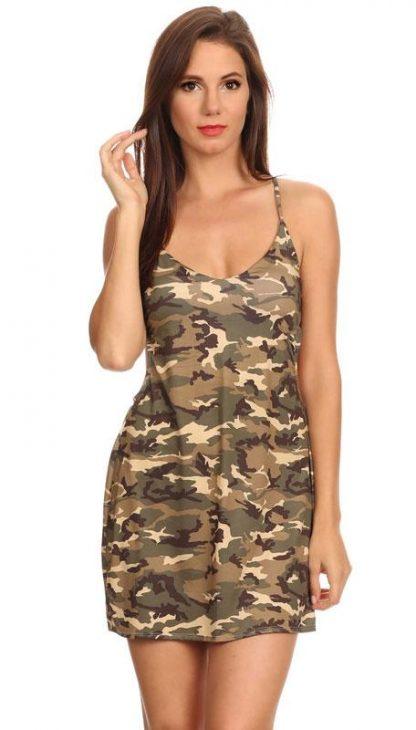 ST268 Camouflage beach dress