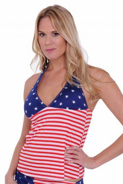 USA American flag tankini top ST433T