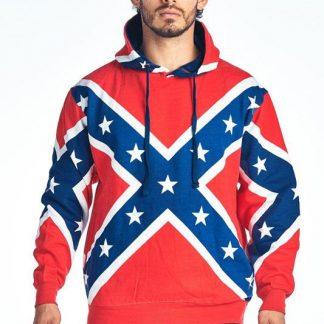 Rebel Confederate flag hoodie