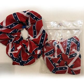 Rebel flag scrunchie hair tie