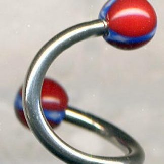 Rebel flag 10mm spiral belly body jewelry BJ51