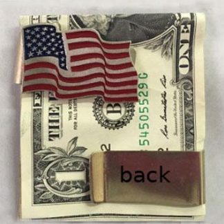 stainless steel metal American flag money clip