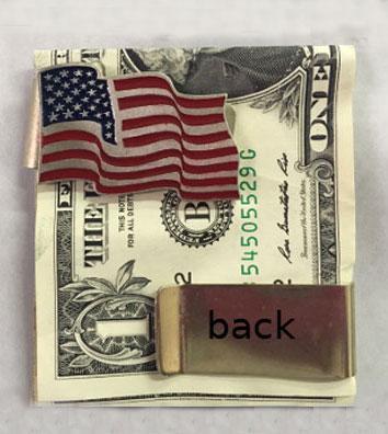 stainless steel metal American flag money clip